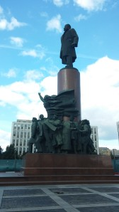 Casual Lenin statue on our way into town