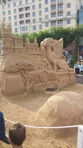 Bizarre sand Castle in the middle of Moscow