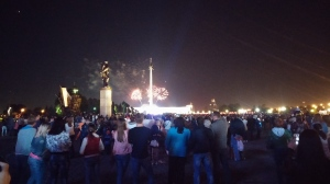 Fireworks on Moscow Day