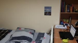A plain room...