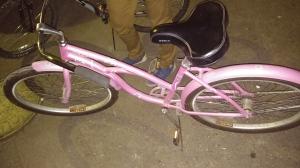 I've never had a bike where the handlebars reach my knees...