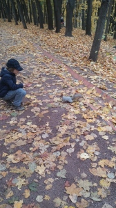Boy with Squirrel
