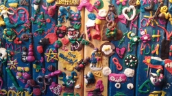 Colourful restaurant walls
