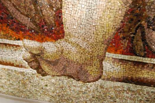 Mosaic of a plump foot. Incredible