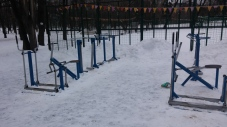 The outdoor gym (half of it)
