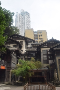 Different building styles in Chongqing